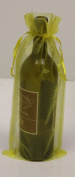 6 Yellow Organza Bags - Bottle/Wine Bags Gift Pouch, 15cm x 36cm