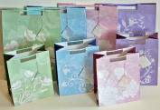 Gift Bag Set with Tags 4-Large and 4-Medium + 4-Free Medium Bags Total 12-Gift Bags and 12 Gift Cards!