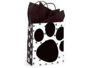 Pooch's Paw Doggie Print Paper Medium Shopper Gift Bag - Quantity of 5