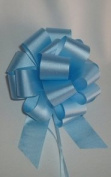 10 Pull String Bows - Gift Wrap Packaging - 13cm 20 Loops - 3.2cm - Light Blue