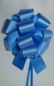10 Pull String Bows - Gift Wrap Packaging - 13cm 20 Loops - 3.2cm - Royal Blue