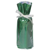 Gift Mate 21096-5 5-Piece Wine/Bottle Drawstring Gift Bags, Diamond Green