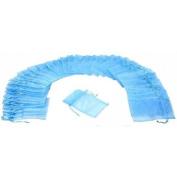 60 Baby Blue Organza Gift Bags 13cm x18cm