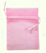 60 Pink Organza Gift Bags 13cm x18cm