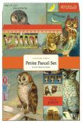 Cavallini 12-Pack Petite Vintage Owls Parcel Set