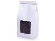 25 1/2 Lb. Tin Tie Bakery Bag w/ Window - White
