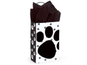 Pooch's Paws Rose Paper Shopper Gift Bags - Pack of 10