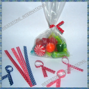 100pcs 23cm x30cm Clear Poly Bags with Twist Ties