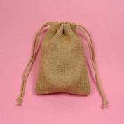 24 7.6cm x13cm Wedding Burlap Bags with Double Drawstrings