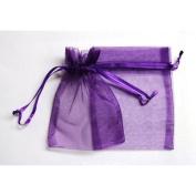 60 Dark Purple Organza Gift Bags 13cm x18cm