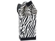 Zebra Rose Paper Shopper Gift Bags - Pack of 10