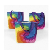 ~ 12 ~ Tie-dye Tote Bags / Gift Bags ~ 20cm X 20cm Canvas ~ NEW