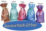 GiftMate 20-Pc. Polka Dot Drawstring Gift Bags with Inserted Ribbons Five (5) Colours