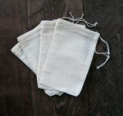 Natural Cotton Muslin Drawstring Bags 3x5 Inches (7.5x12.75 Cm) 100 Count