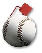 Pack of 6 Baseball Small Die Cut Gift Bags