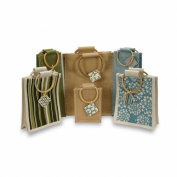 Eco Friendly Jute Reusable Gift Bag Collection - Includes 6 Bags