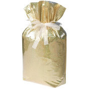 Gift Mate 21077-9 9-Piece Drawstring Gift Bags, Small, Diamond Gold
