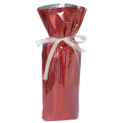 Gift Mate 21095-5 5-Piece Wine/Bottle Drawstring Gift Bags, Diamond Red