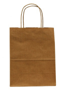 Premier Packaging AMZ-295017 15 Count Pinstripe Shopper Gift Bag, 21cm by 27cm , Natural