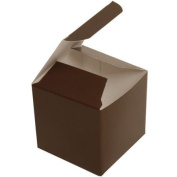 2x2x2 Chocolate Brown Glossy Boxes- sold individuaaly