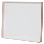 JAM Paper® Gift Box - 17cm x 19cm x 1.6cm - Pink with Clear Top - Sold individually