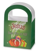 Lot of 5! Jesus Is the Best Gift of All 7.6cm Cardstock Christmas Treat Candy Gift Giving Basket