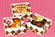 Love Chocolate Treat Boxes - Set of 4 Boxes & 4 Decorative Stickers and Seals