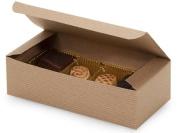 Set of 10 - 1 lb. KRAFT TAN Candy Wedding Party Favour Boxes 18cm x 8.6cm x 5.1cm