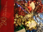 Press N' Stick Metallic Holiday Bows Pack of 20