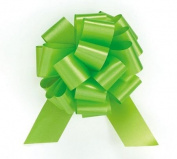 LIME GREEN Citrus Pull String Bows - 14cm Wide 20 Loops (1 & 2.2cm ribbon) Set of 10