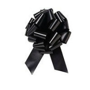 10 Pk Black Pull Bows - Gift Packaging Bows - Gift Bows for Gift Baskets & Packages