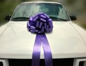 Large Car Bow, 41cm Wide - Purple