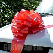 Large Car Bow, 41cm Wide - Red