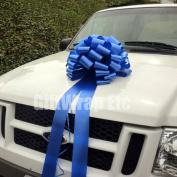 Large Car Bow, 41cm Wide - Royal Blue