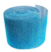 Turquoise Diamond Mesh Wrap Roll Rhinestone Crystal Ribbon 11cm x 10 yards