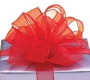 Red Organza Sheer Ribbon #9 3.8cm X 20 Yds