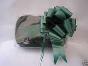 5 x 37mm Hunter Green Florist Craft Pull Bows. Plus 10m of Green Curling Ribb...