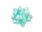 Aqua 6.4cm Poly Star Gift Bows -100 Per Package.