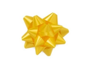 Daffodil 6.4cm Poly Star Gift Bows -100 Per Package.