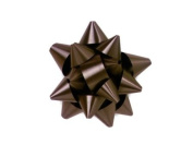 Dark Chocolate 6.4cm Poly Star Gift Bows -100 Per Package.