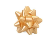 Gold 6.4cm Poly Star Gift Bows -100 Per Package.