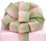 #9 Green and Pink Watercolour Wired Ribbon