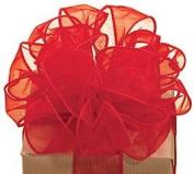 Red Sheer Ribbon #9 3.8cm X 20 Yds