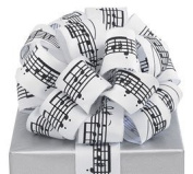 Music Note Wired Ribbon #9 3.8cm X 20 Yards Florist