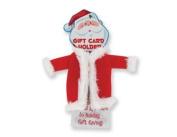 Santa Claus Suit Gift Card Holder