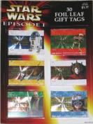 Star Wars Episode 1 Foil Leaf Gift Tags 30 Pcs.