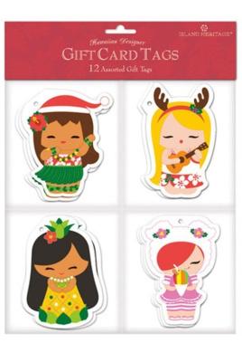Hawaiian Christmas Gift Tags Holiday Island Yumi #2