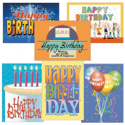 Birthday Card Assorted Pack - Set of 24 Cards & Envelopes