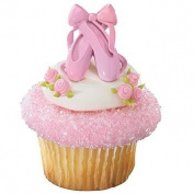 Ballet Slipper Birthday Cupcake Rings