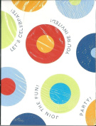 American Greetings 20 Count Party Invitations with Envelopes Colour Circles Modern Retro